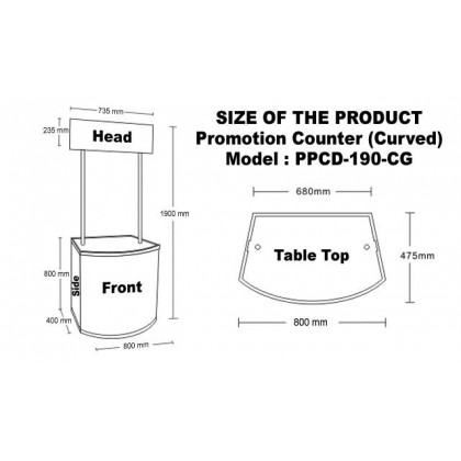 PVC Portable Booth, Fold-able PVC Promotion Table Display Counter