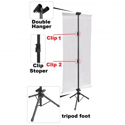 PROMO 2 PCS Tripod Bunting Banner Stand - Double Sided