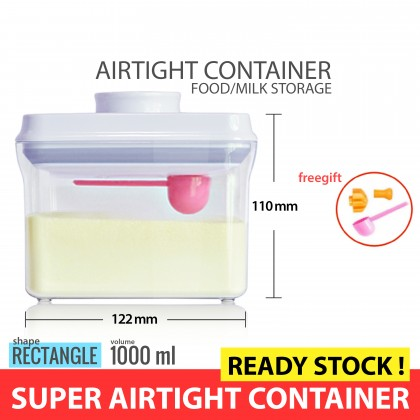 ANKOU Airtight Container 1,000ml (Rectangle) with SCRAPER
