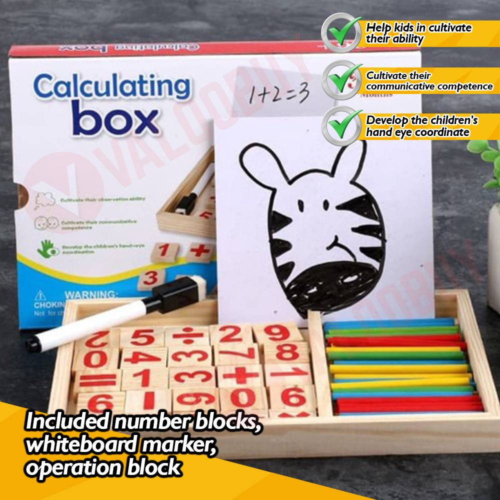 Puzzle Educational Calculating Box Set With Box For Kids