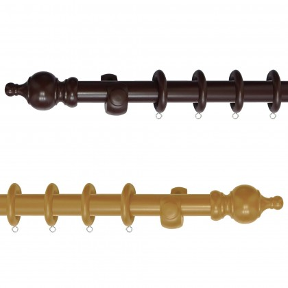 Wooden Curtain Rod Set