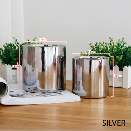 Pasu Ceramic Gold Silver Flower Pot