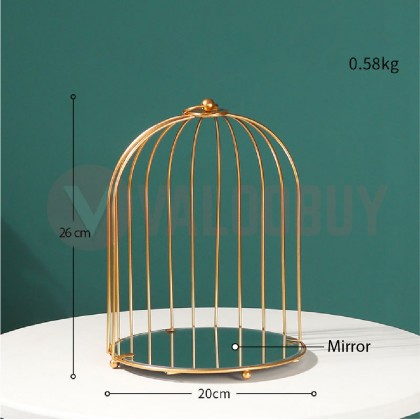 Nordic Birdcage 1Level/2Level Cosmetic Storage Rack Shelves Simple Creative Home Gold Portable