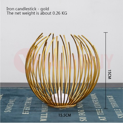 Geometric Candlestick Nordic Style Lamps Mental Candle Holder Lilin Holder