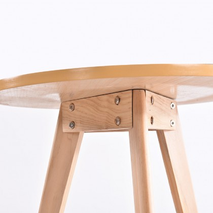Table Round Wood 60cm Height Modern Style Minimalist