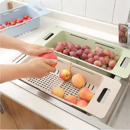 Telescopic Sink Wash Basket Retractable Adjustablet Fruit And Vegetable Wash Basket Kitchen Drain Basket